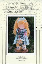 "Tabatha: Uncut ©1992 Sharin'-a-little-bit Pattern #102 30"" Wood & Cloth Doll"