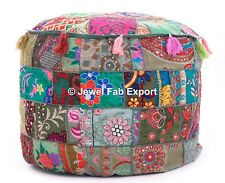 Floor Pouf Ottoman Pouffe Footstool Moroccan Bean Bag Ethnic Patchwork Cover