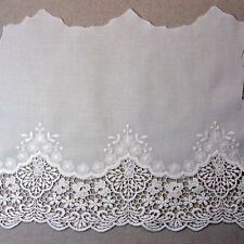Lovely Embroidered Cotton Lace Crochet Trim Off White 9.4inch(24cm) Wide 1yd