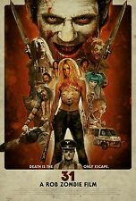 2016 A Rob Zombie Film 31 Horror Movie Vintage Design HQ Wall Silk Poster 24×36""