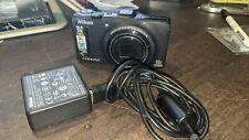 Nikon COOLPIX S9300 16.0MP Digital Camera - Black With Charging Block and Cable