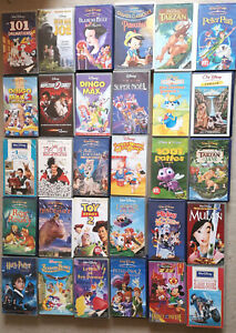 Lot  30 Cassettes VHS DISNEY + Harry Potter Cassette Video VHS