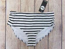 89526f2076b5f Boohoo Women's Mix & Match Nautical High Waist Bikini Brief US 8 Black/White  NWT