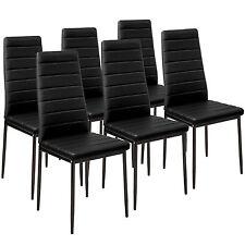 6x Sillas de comedor Juego elegantes sillas de diseño modernas cocina negro