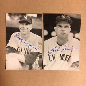 John Sain NY Yankees Signed Postcard 1950s JSA Precertified