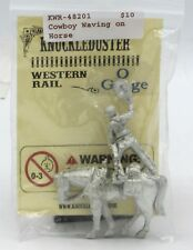 Knuckleduster KWR-48201 Cowboy Waving on Horse (O Gauge Western Rail) Old West