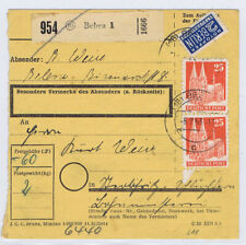 Bizone/Bauten, 87wg(2), MiF 128, Paketkarte Bebra, 5.2.53