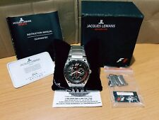 JACQUES LEMANS JL Watch F1 Sport Racing Pure Classic Analog Chrono Limited Edit.