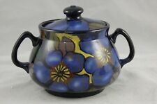 Royal Stanley Ware Jacobean Clematis Lidded Sugar Bowl Art Deco