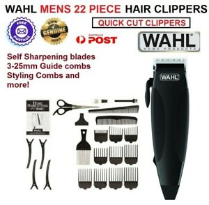 WAHL 22 Pc Haircut Clippers Mens Boys Home Haircutting Set Corded Electric NEW