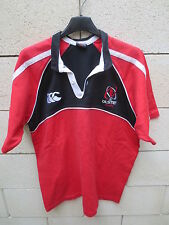 VINTAGE Maillot rugby ULSTER CANTERBURY Coton shirt jersey sans sponsor M rouge