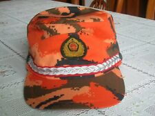 08's China Armed Police Force Firefighting Force NCO Red Digital Camo Cap,Hat