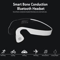 Bone Conduction Sport Headphone Wireless Bluetooth Stereo Headset MIC Waterproof