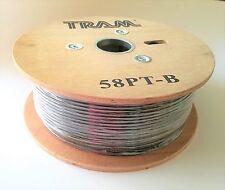 Coaxial Cable RG-58 RG58A/U Tinned Copper Braid Center 500' feet Reel Tram 58PTB