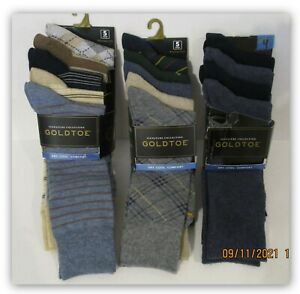 Goldtoe Men's Dress Socks shoe sz -6-12.5 moisture wicking 4 or 5 pk Multi color