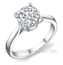 0.61 CT ROUND D I1 GIA CERTIFIED DIAMOND ENGAGEMENT RING 5.50x5.47x3.32MM