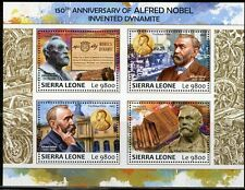 SIERRA LEONE 2017 150th ANN OF ALFRED NOBEL'S INVENTION OF DYNAMITE SHT MINT NH
