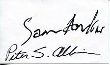 SAM ANDREW PETER ALBIN / BIG BROTHER & THE HOLDING COMPANY SIGNED CARD AUTOGRAPH