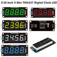 """0.56"""" inch TM1637 4-Bits LED Clock Tube Display for Arduino Red/Blue/Green/White"""
