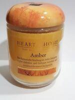 Duftkerze Amber Heart & Home Sojawachs Kerze Vegan Eukalyptus