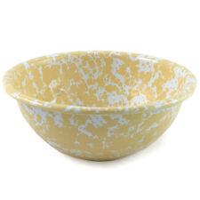 Crow Canyon Enamelware 15cm Bowl in Yellow Marble Enamel D17YLM