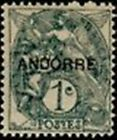 """ANDORRE FRANCAIS STAMP TIMBRE N° 2 """" BLANC 1 C. GRIS """" NEUF x TB"""