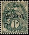 "ANDORRE FRANCAIS STAMP TIMBRE N° 2 "" BLANC 1 C. GRIS "" NEUF x TB"