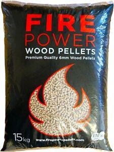 Firepower Wood Pellets PIZZA OVEN WOOD FUEL PELLETS PELLET Ooni Grills 15KG BAG