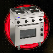 4 Platten Elektroherd mit Elektro Backofen  Snack TAM-SEBE70 D1
