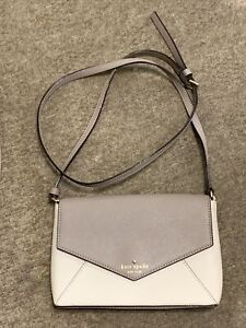 New Genuine Kate Spade New York Evening Cross Body Bag In Brown & Cream Leather