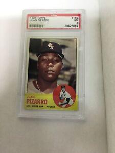 1963 Topps #160 Juan Pizarro PSA 7 Chicago White Sox