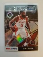 2020 NBA Hoops Premium Stock James Harden Lights Camera Action #29 Silver Prizm