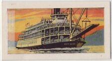 """Delta Queen"" Modern Mississippi Sternwheel Steamboat Vintage Trade Ad Card"
