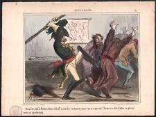 Honoré Daumier. Russie. Menschikoff. Lithographie sur Blanc. 1854. Crimée