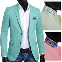 Men's Blazer Jacket Casual Formal Spotted Pattern Vivid Colours UK Size Cotton