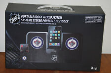 NHL Winnipeg Jets IHIP Portable IDOCK Stereo System with Wireless Remote