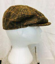 Vintage 1970's Tweed Biltmore Newsboy Gatsby Cabbie Hat. Size 8 Approx Scotland