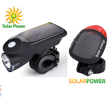 SOLAR BIKE LIGHTS SET for mountain road BMX bikes bicycles