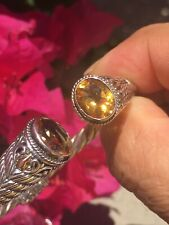 "18k Yellow Gold / Sterling Silver Citrine Bracelet  By ""Samuel B Behnam"" Jewelry"