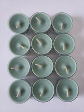 Partylite V04561 White Cedar Leaf 12 pack Universal Tealights Candles