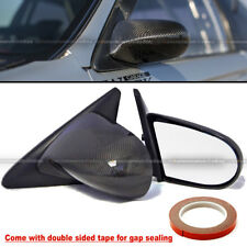 Fit 92-95 Civic 2/3DR Carbon Fiber Powered Adjustable Spoon Style Side Mirror