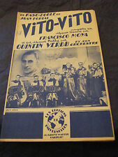 Partition Vito Vito Quintin Verdu 1948 Francisco Moya Music Sheet
