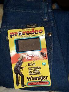 Boys jeans size 11 Slim Wrangler ~ Kids Pro Rodeo Jeans 23 1/2 inch waist