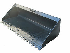 """SKID STEER 72"""" LP BUCKET W/BOLT ON CUTTING EDGE TOOTH AND SMOOTH FREE SHIPPING"""