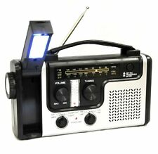 Emergency Solar Hand Crank Weather Radio Flashlight Cell Phone Charger USB