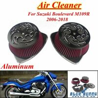 Motorcycle Aluminum Air Cleaner Intake Filter For Suzuki Boulevard M109R 2006-19