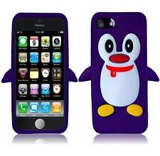 iPhone 5s 3D PENGUIN Case TPU Soft Protective COVER Purple Green Blue White