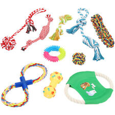 10pcs Dog Rope Toys Dog Teething Toys Best Chew Toys for Teething Puppy Gift Set
