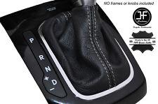 GREY STITCHING AUTO AUTOMATIC SKIN SHIFT BOOT FITS KIA FORTE 2011-2013