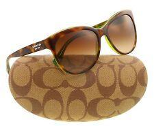 Coach Designer HC 8055 5117/T5 Polarized Sunglasses Tortoise Green Frame New